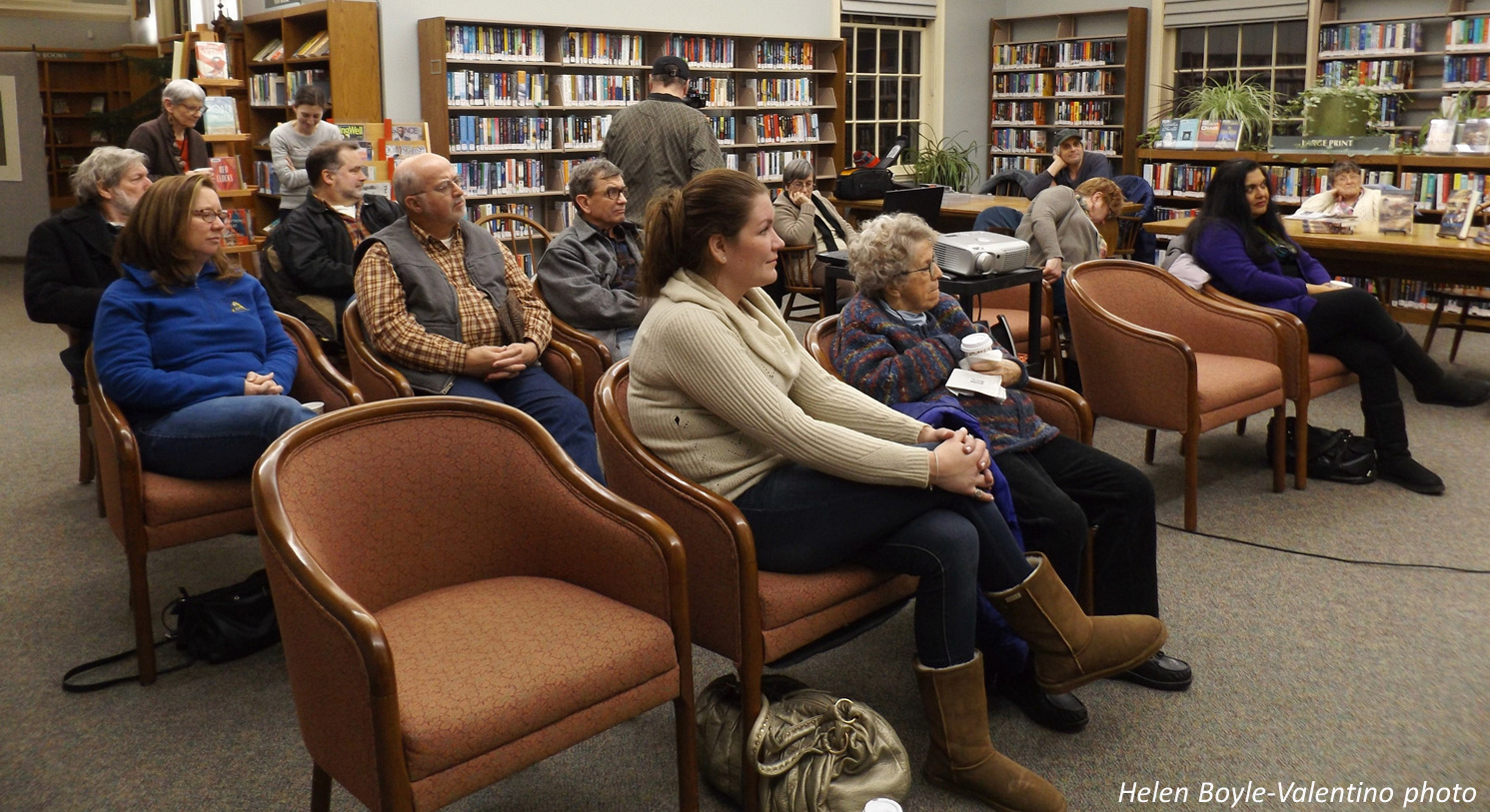 Local author shares book, story in library event