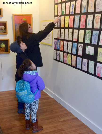 West Brookfield student self-portraits on exhibit