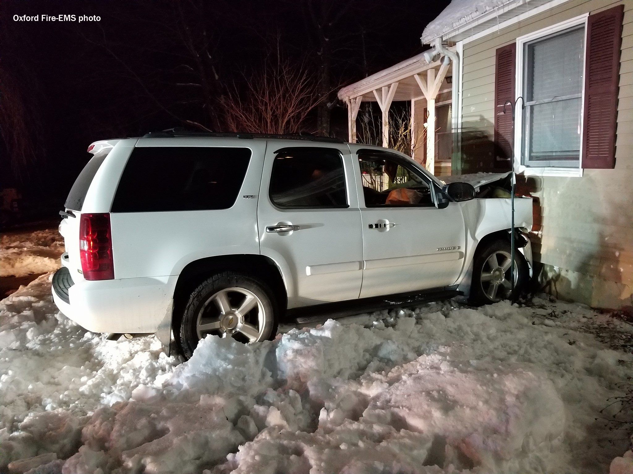 SUV crashes into Oxford home on Saturday night