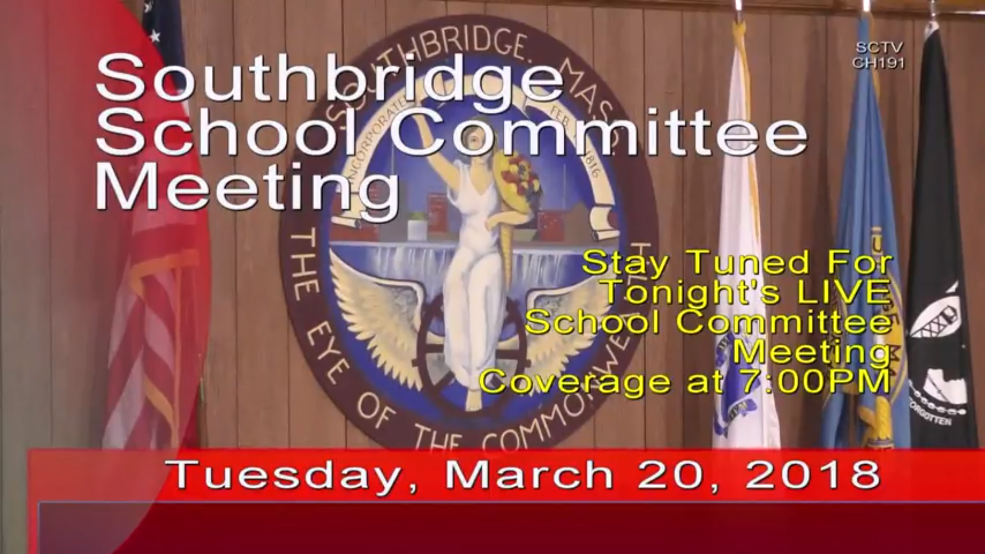 "Video: Southbridge School Committee's March 20 ""Meeting"""