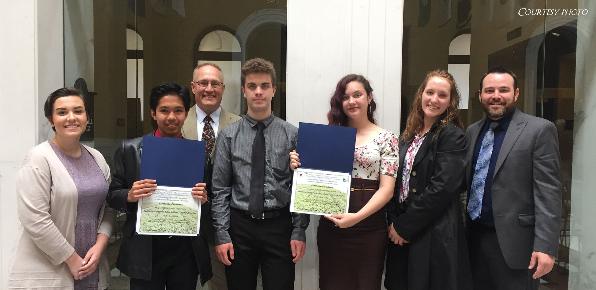 Shepherd Hill Envirothon team honored at State House