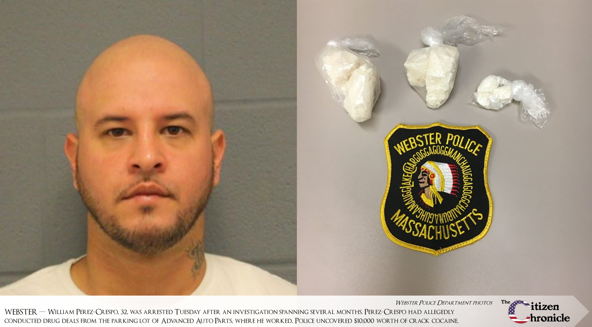 Webster PD, DEA collaborate on cracking down on cocaine dealer