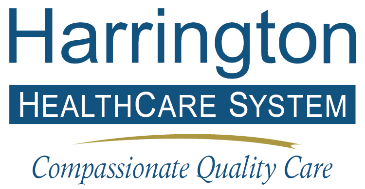 Harrington Healthcare logo and tagline