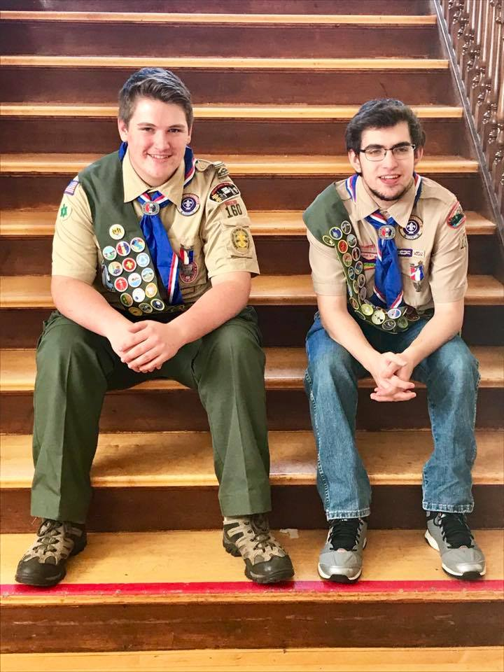 He Has His Merits Eagle Scout Austin Koslow Wears Full Plement Of 137 Merit
