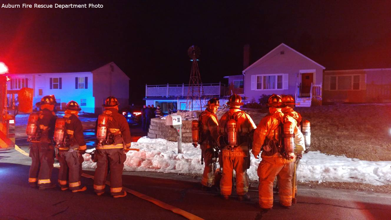 Cat saved from late night basement fire