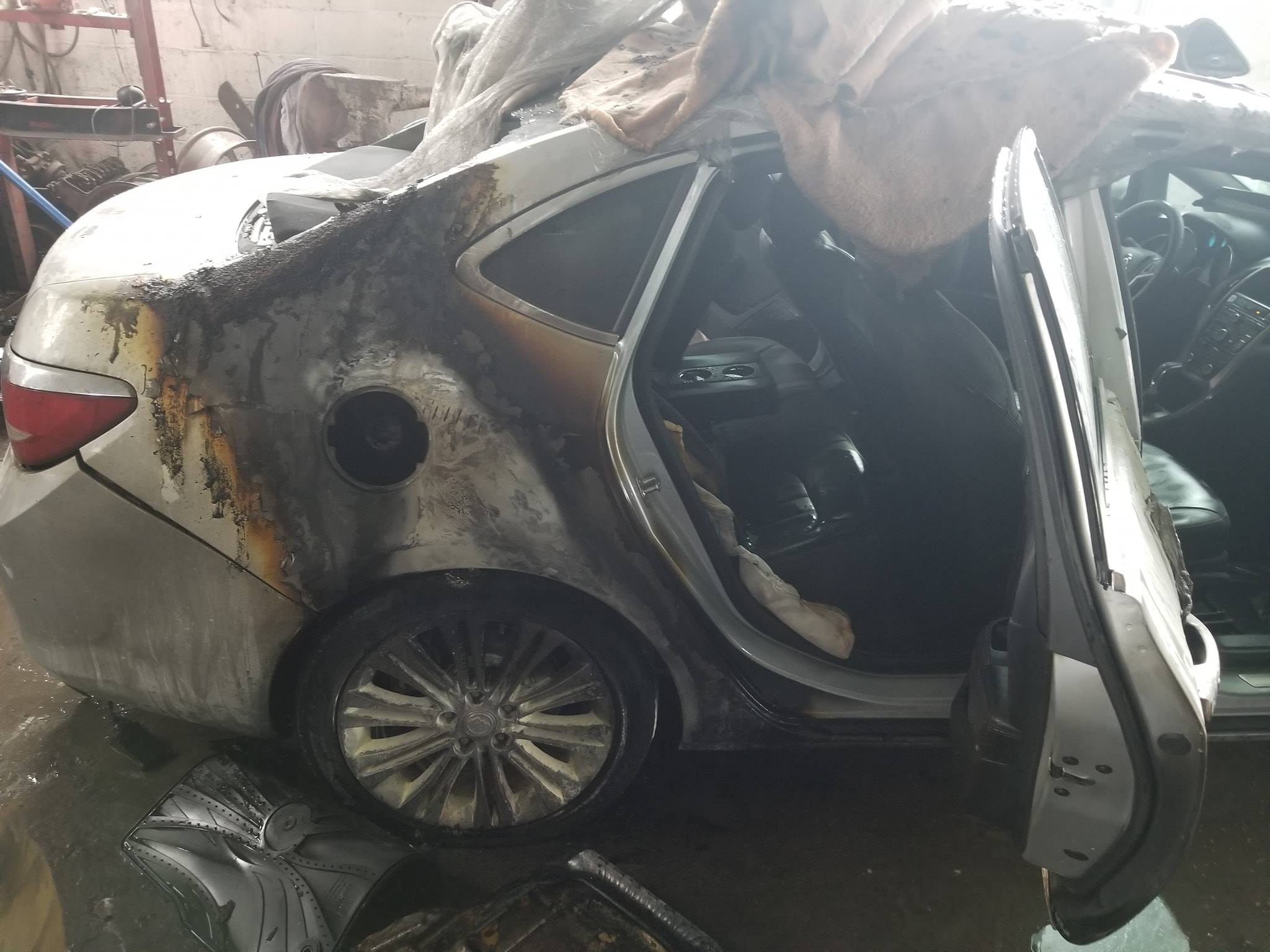 One taken to hospital after car fire in Oxford