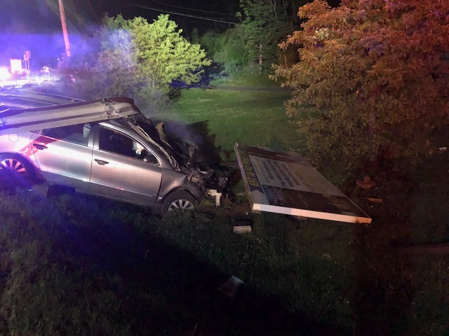Worcester man cited in single-vehicle crash Monday night