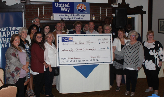 United Way of Southbridge, Sturbridge, and Charlton Kicks Off 2019 Campaign, Presents $249,250 Check to Local Agencies