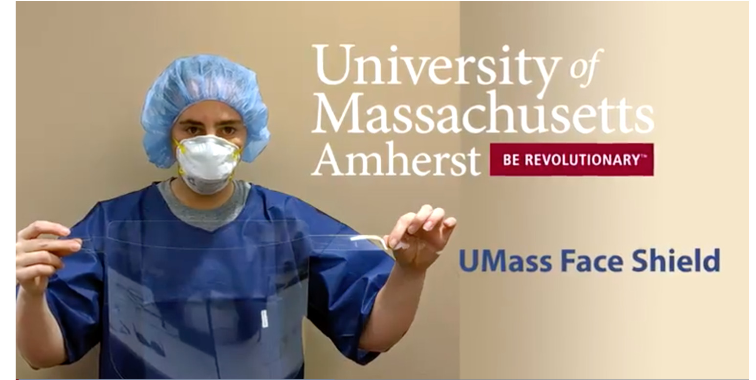 UMass Amherst Engineers, Nurses Design Fast-track, Low-cost Face Shield to Provide PPE Devices for Health Care, Production in Southbridge