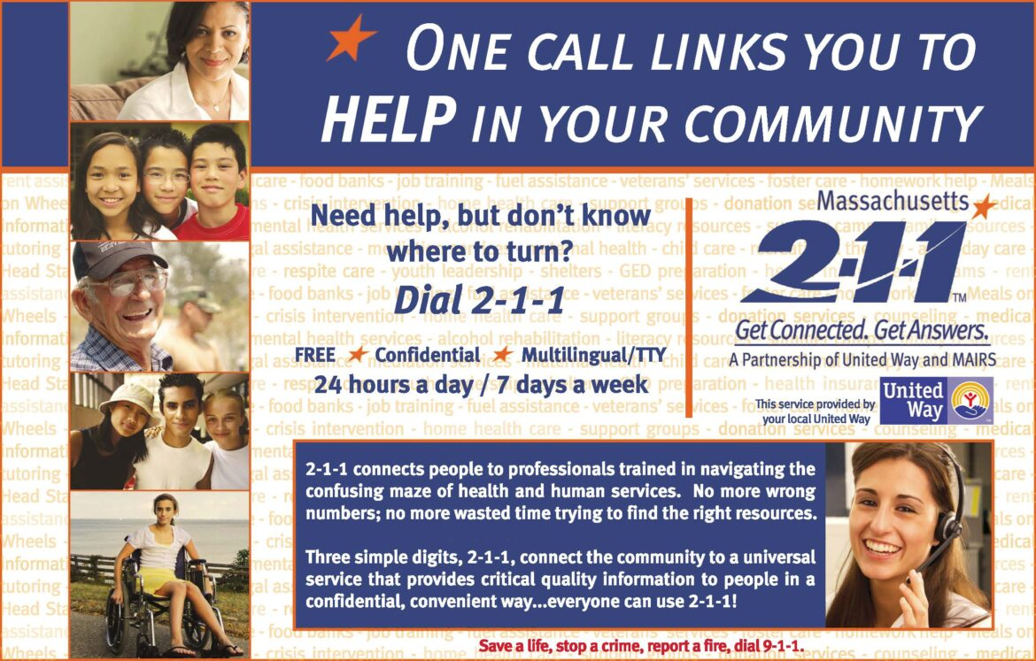 United Way to virtually celebrate Mass2-1-1 Day