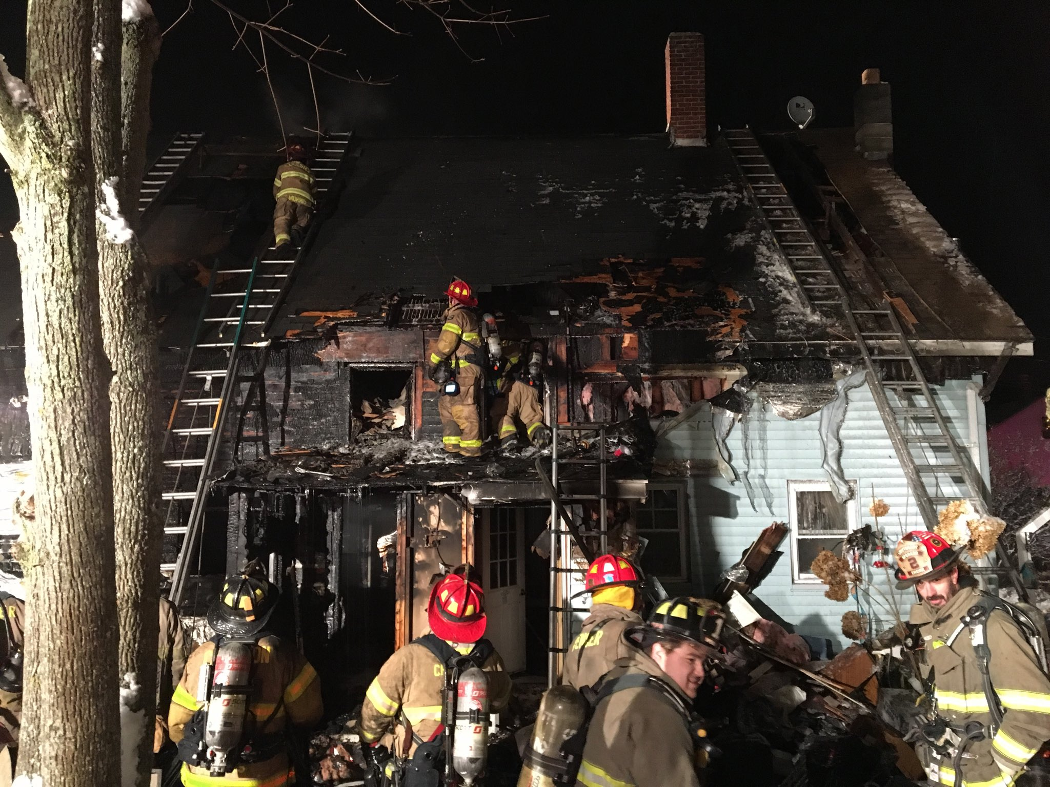 Three-alarm fire displaces Rochdale residents