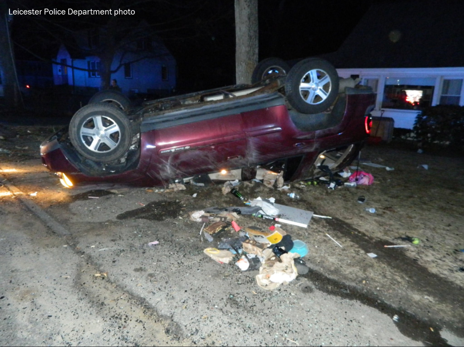 Man emerges without injury after roll over accident