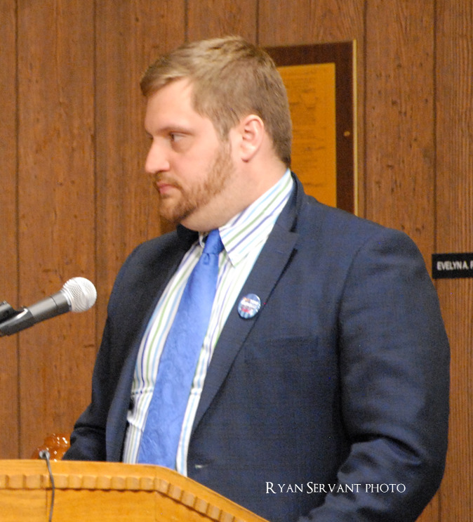 Town Council debates, permits Senate candidate's introduction