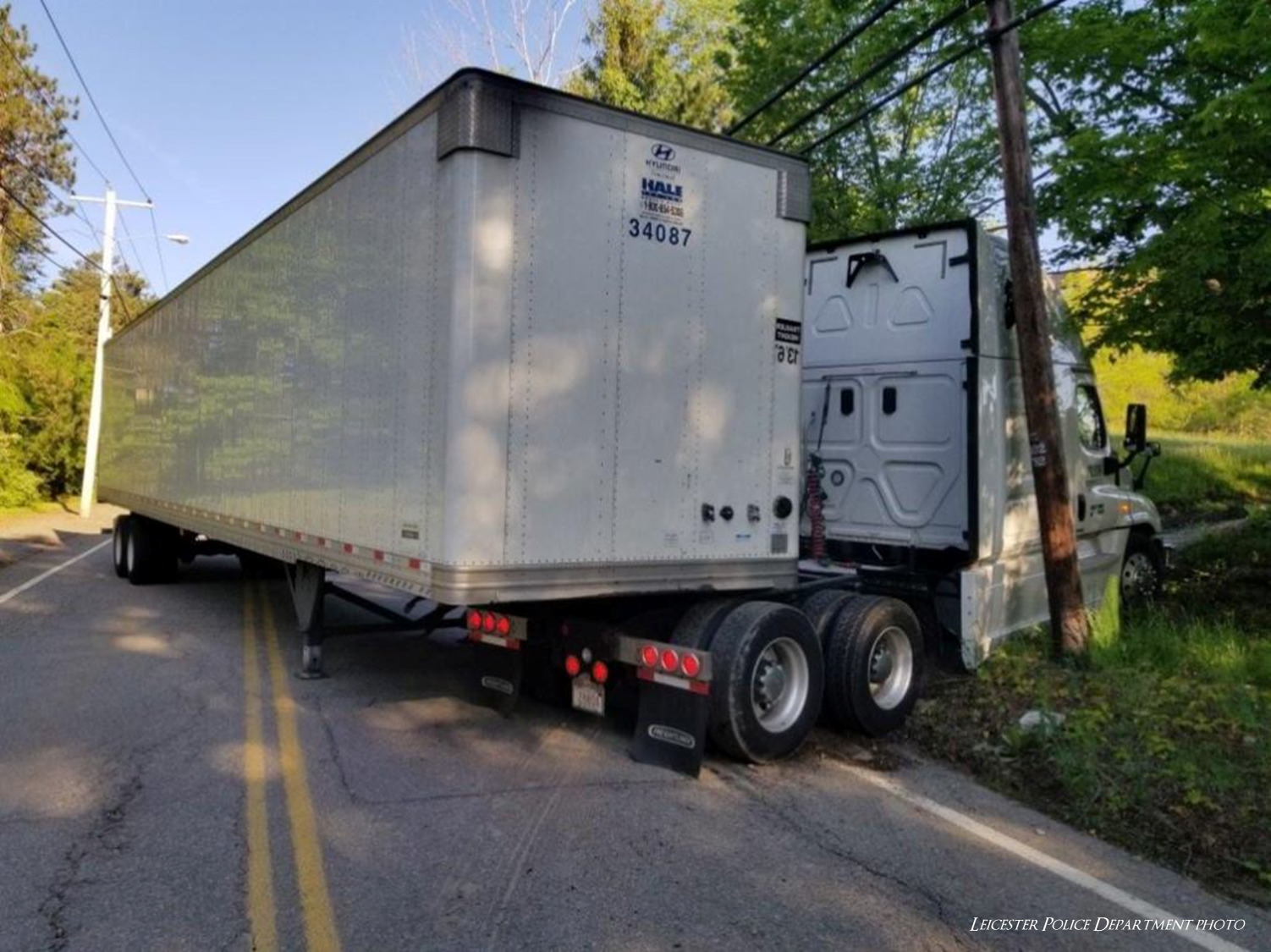 Morning commute snarled by jackknifed tractor trailer