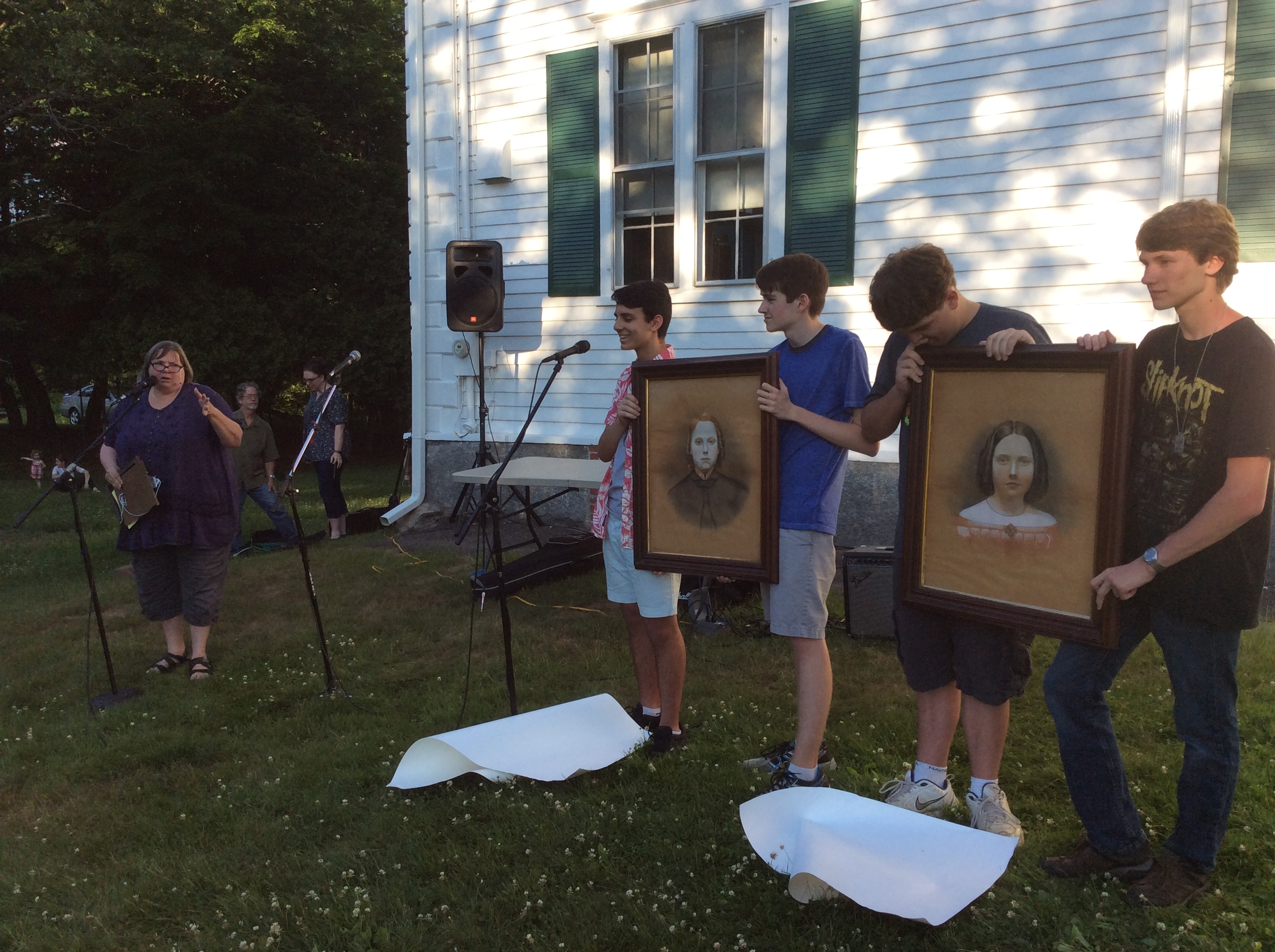 Sawin portraits revealed at Hitchcock's Make Music Day