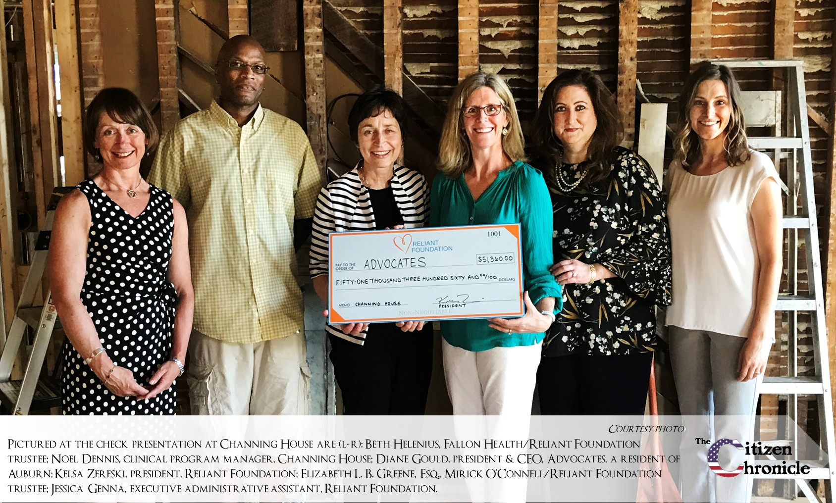Reliant Foundation Raises $51,360 For Advocates' Channing House