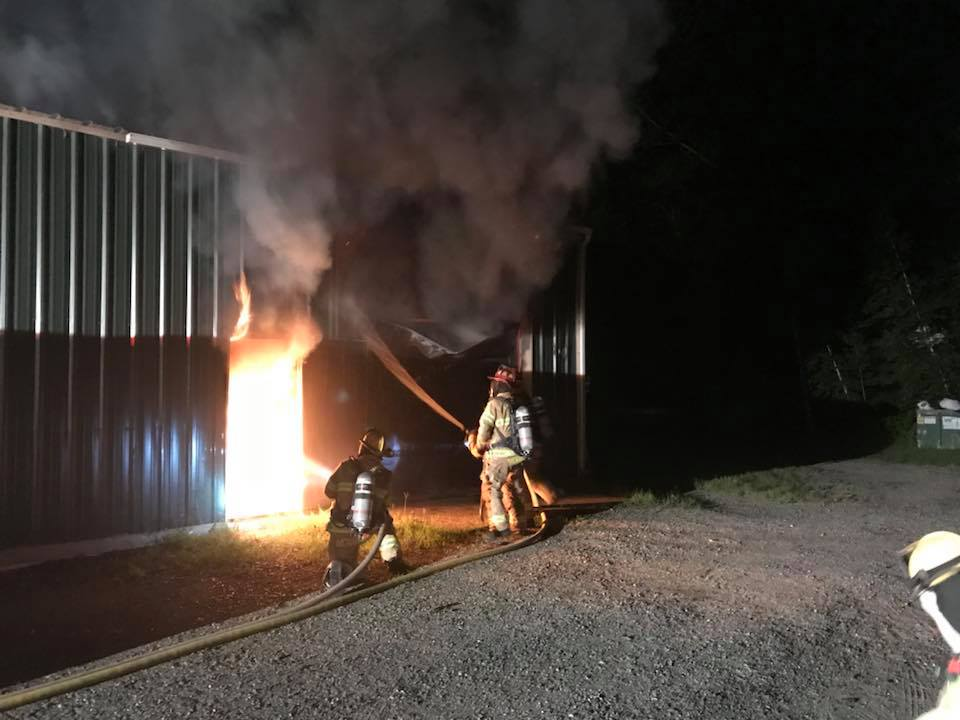 Two-alarm fire overnight at large garage in Leicester