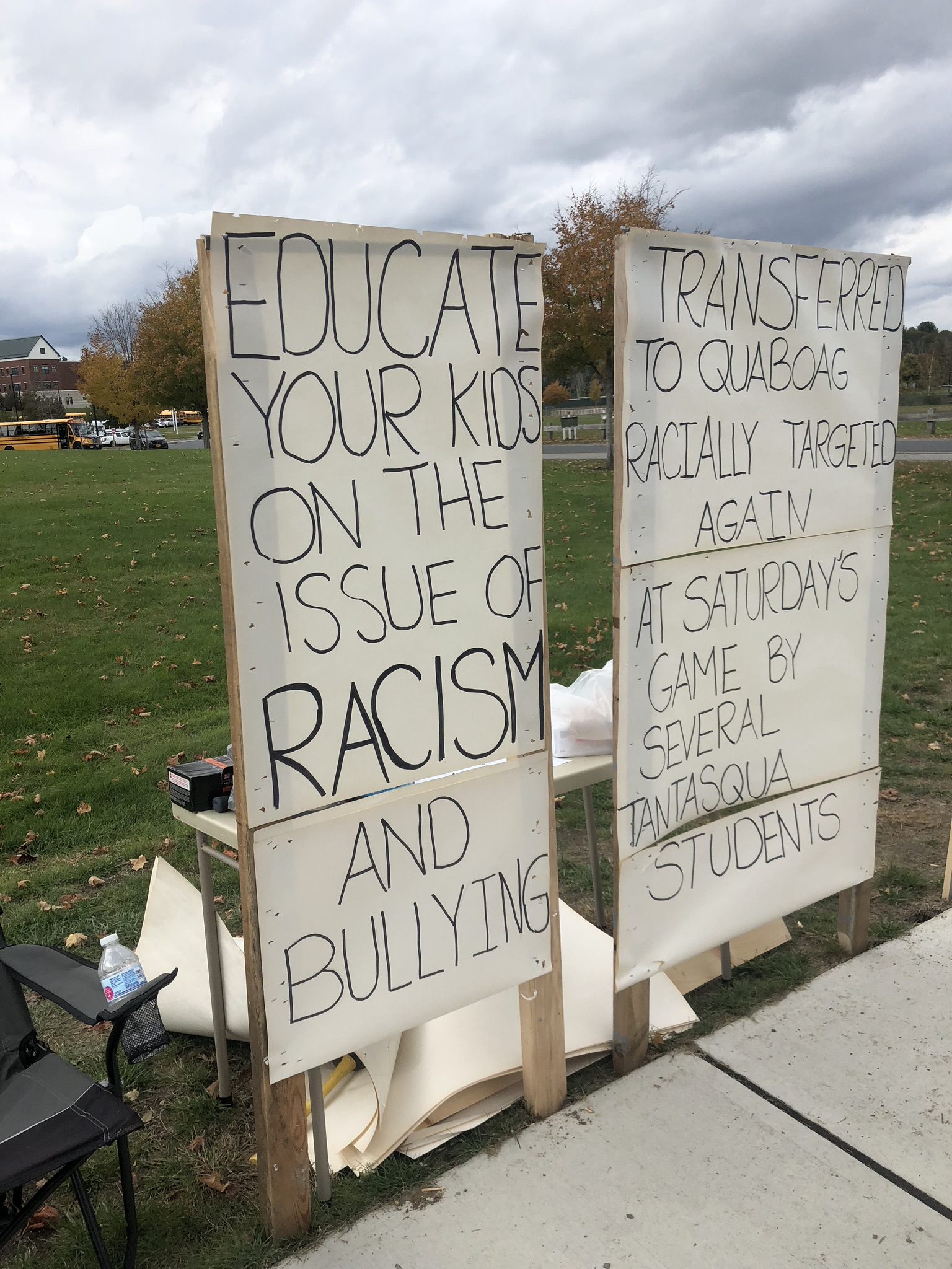 Father Protests Alleged Racism at Tantasqua