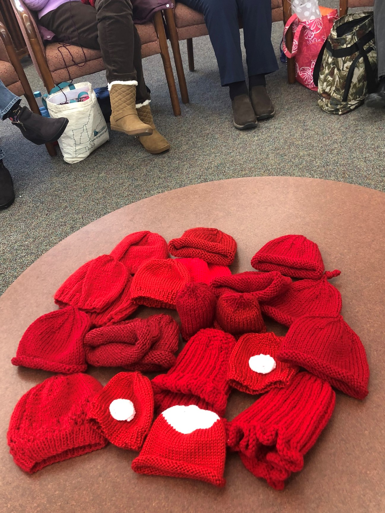 Southbridge Knitters Contribute to Heart Health Campaign