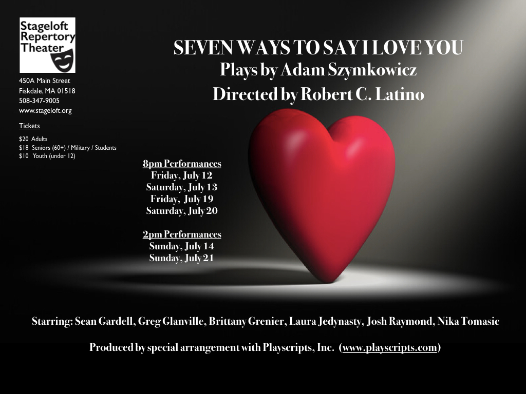 """Stageloft to share """"Seven Ways To Say I Love You"""""""