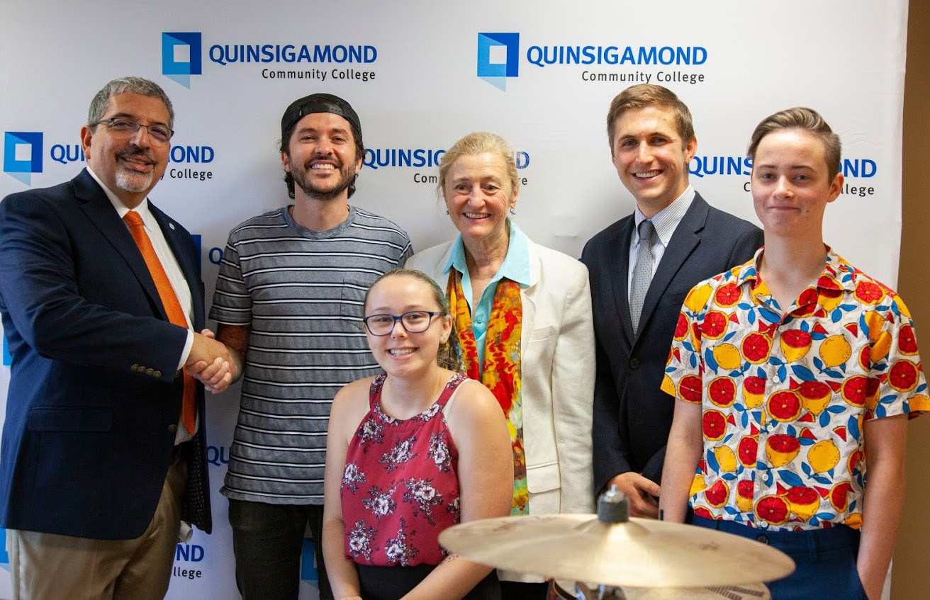 Manufacturer of Drums for GreenDay, Imagine Dragons, Slipknot and Others Donates Drum Kit to QCC