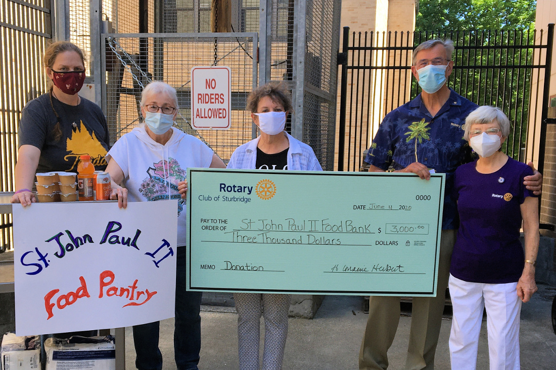Rotary Club makes $3,000 donation to food pantry