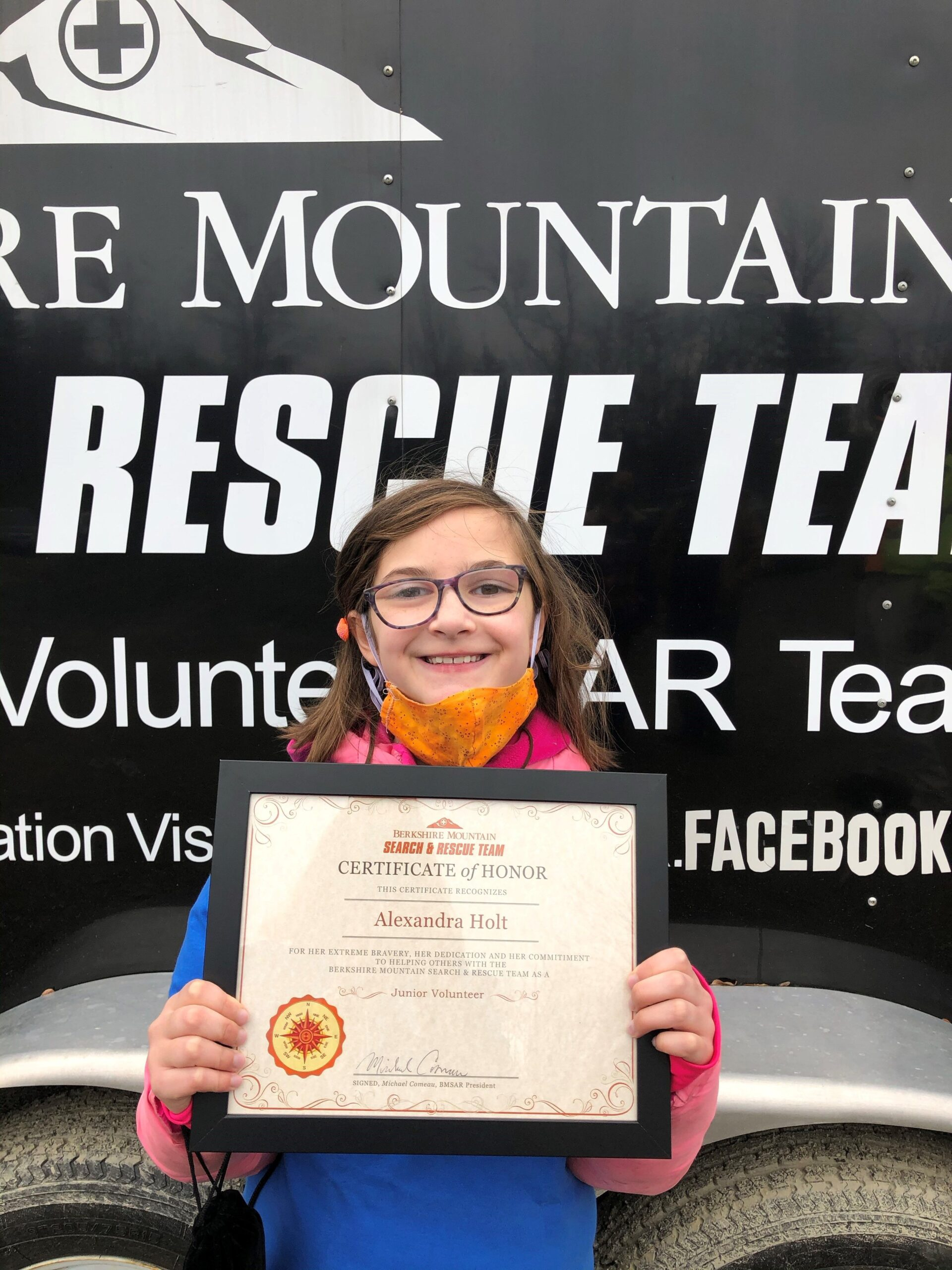 Southbridge girl experiences mock search and rescue via Make-A-Wish